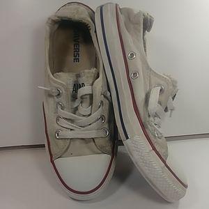Converse Women's 7 Slip On's Rare White